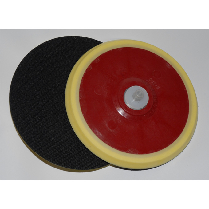 DA Backing Pad Low Profile (Dynabrade) 150 X 5/16 UNF Velcro No HoleBlack Coolshine Foam Velcro