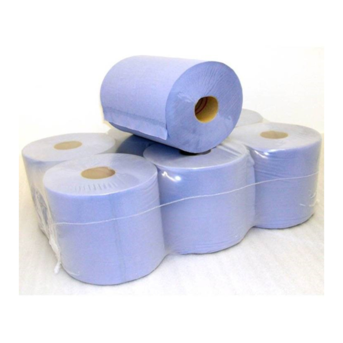 Two-Ply Blue Tissue - 6 Pack